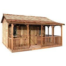 shed plans with porch shop wood storage sheds at lowes com