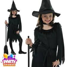 Witch Halloween Costumes Childrens Girls Lil Witch Halloween Party Costume Fancy Dress