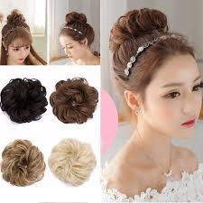 hair buns s noilite hair buns extension synthetic hair curly wavy bun hair