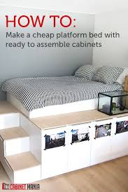 Look Diy Platform Bed With Storage Diy Platform Bed Platform by Best 25 Platform Bed Storage Ideas On Pinterest Bed Frame