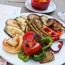 cuisine plancha recette tomates aubergine courgettes et poivron cuits à la plancha