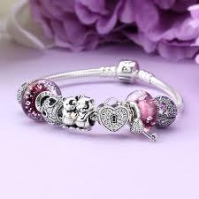 pandora glass bracelet images Pandora bear hug charm bracelet 1247