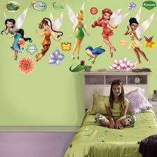 tinkerbell decorations for bedroom tinkerbell fairies giant wall graphics kids decorating ideas