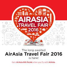 airasia travel fair airasia big earn big points at airasia travel fair 2016 travel