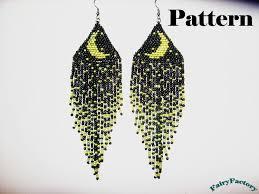 pattern moonlight sonata seed beads brick stitch earrings u20ac4 00