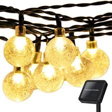 Solar White Christmas Lights by Amazon Com Christmas Solar Globe String Lights Addlon Led Fairy