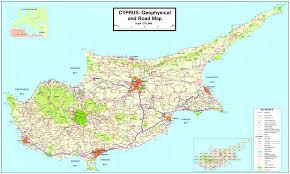 Africa Map Rivers Cyprus Physical Map Large Physical Map Of Cyprus Map