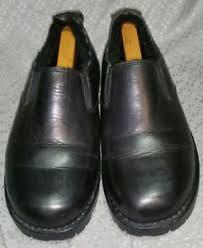 s ugg black leather ugg black leather slip on s shoes size 10 ebay