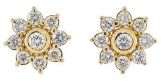 diamond earrings designs diamond earrings designs real certified 1 00 ct 18k gold