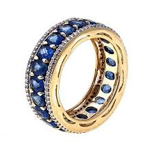 band ring lance fischer laos sapphire and diamond 14k band ring 8418417 hsn