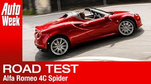 alfa romeo 4c spider autoweek review english subtitled youtube