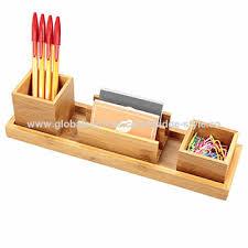 Bamboo Desk Organizer Bamboo Desk Organizer Set Of 4pcs Tray Pen Holder Card Holder