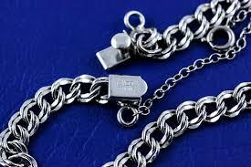 sterling silver charm link bracelet images Very feminine vintage elco sterling silver double link starter jpg