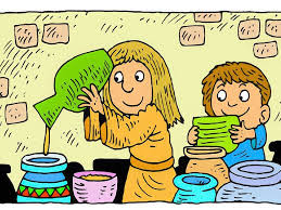 free bible images god helps a widow by giving her a miraculous