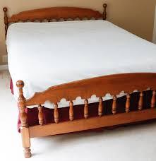 ethan allen queen maple cannonball bed ebth