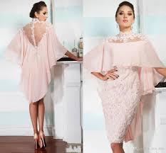 wedding plus dresses 2018 high neck pink chiffon lace