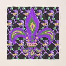 diy mardi gras bead bandana mardi gras and fleur de lis scarf party gifts gift ideas diy
