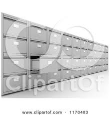 One Drawer Filing Cabinet by Royalty Free Rf Filing Cabinet Clipart Illustrations Vector