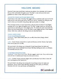carnival dining room dress code reflection dress code just back