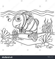 clownfish coloring pages vector stock vector 311139878 shutterstock