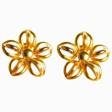 gold earrings with price gold earrings by kaara san185 gold earrings homeshop18