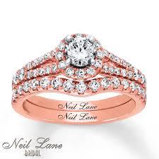 glamorous neil lane rings at kays jewelers kay neil lane bridal set 1 1 5 ct tw diamonds 14k rose gold