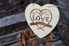 love is my anchor ring bearer sign rustic wedding signs