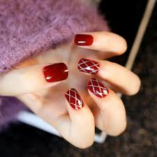 high quality wholesale red nail designs from china red nail