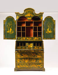 green bureau an green and gilt japanned chinoiserie bureau cabinet