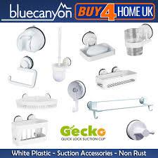blue canyon white gecko suction bathroom accessories no rusting blue canyon white gecko suction bathroom accessories no rusting ebay