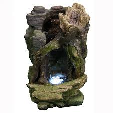 Home Decor Water Fountains cave water fountain with led lights by sunnydaze decor