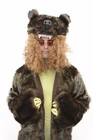grizzly bear halloween costume amazon com oem men u0027s workaholics grizzly bear coat costume with