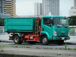 file isuzu forward dump truck green color jpg wikimedia commons