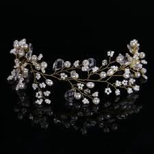 wedding crowns golden hairbands wedding tiara pearl wedding crown bridal hair