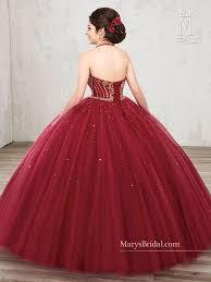 burgundy quince dresses halter a line quinceanera dress by s bridal beloving 4800