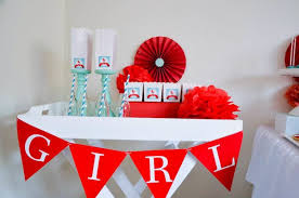 Red Baby Shower Themes For Boys - baby carriage gender neutral boy baby shower planning ideas