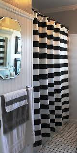 Black And White Stripe Curtains 3 Black And White Horizontal Stripe Shower Curtain 85 00 Via