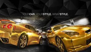 gold foil wrap wrapstyle premium car wrap car foil dubai chrome car