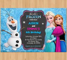 sibling birthday invitation frozen invitation olaf elsa anna