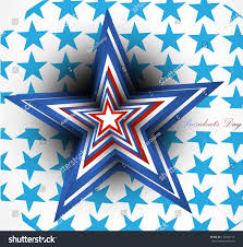 Red White Flag With Blue Star Red White Blue Star Presidents Day Stock Vector 176244515