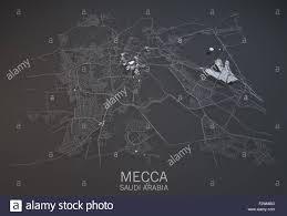 Satellite View Maps Map Of Mecca Satellite View Map In 3d Saudi Arabia Black And