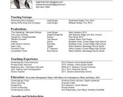 musical theatre resume template musical theater resume template beautiful theatre singer fresh