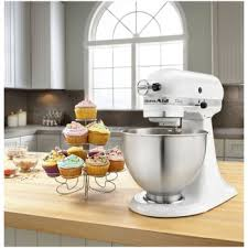Kitchenaid Blender by Kitchen Aid Mixer 4 1 2 Quart White K45sswh Everything Kitchens