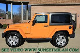 orange jeep wrangler unlimited for sale hd video 2012 jeep wrangler sahara dozer paint used 4x4 for sale