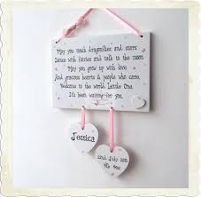 baby plaques personalized new baby girl boy newborn christening wooden plaque gift w71
