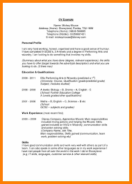 Resume Personal Statement by Example Of Graduate Cv Personal Profile