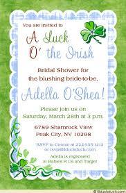 gift card shower invitation shamrock bridal shower invitation luck o the
