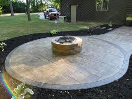 Concrete Firepit Pit On Concrete Patio Beautiful Sted Concrete Patio With