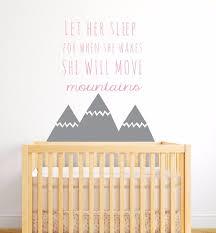 stickers pour chambre bebe style nordique montagnes citations wall sticker pour enfants