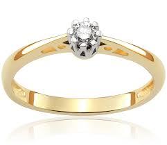 pierscionek zareczynowy pierścionek zaręczynowy julienne 0 11 ct z brylantem białe i